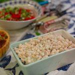 Garlic Chickpea Salad
