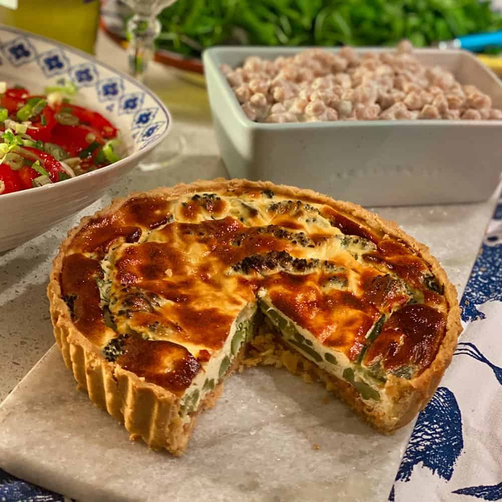 Smoked Trout and Broccoli Quiche