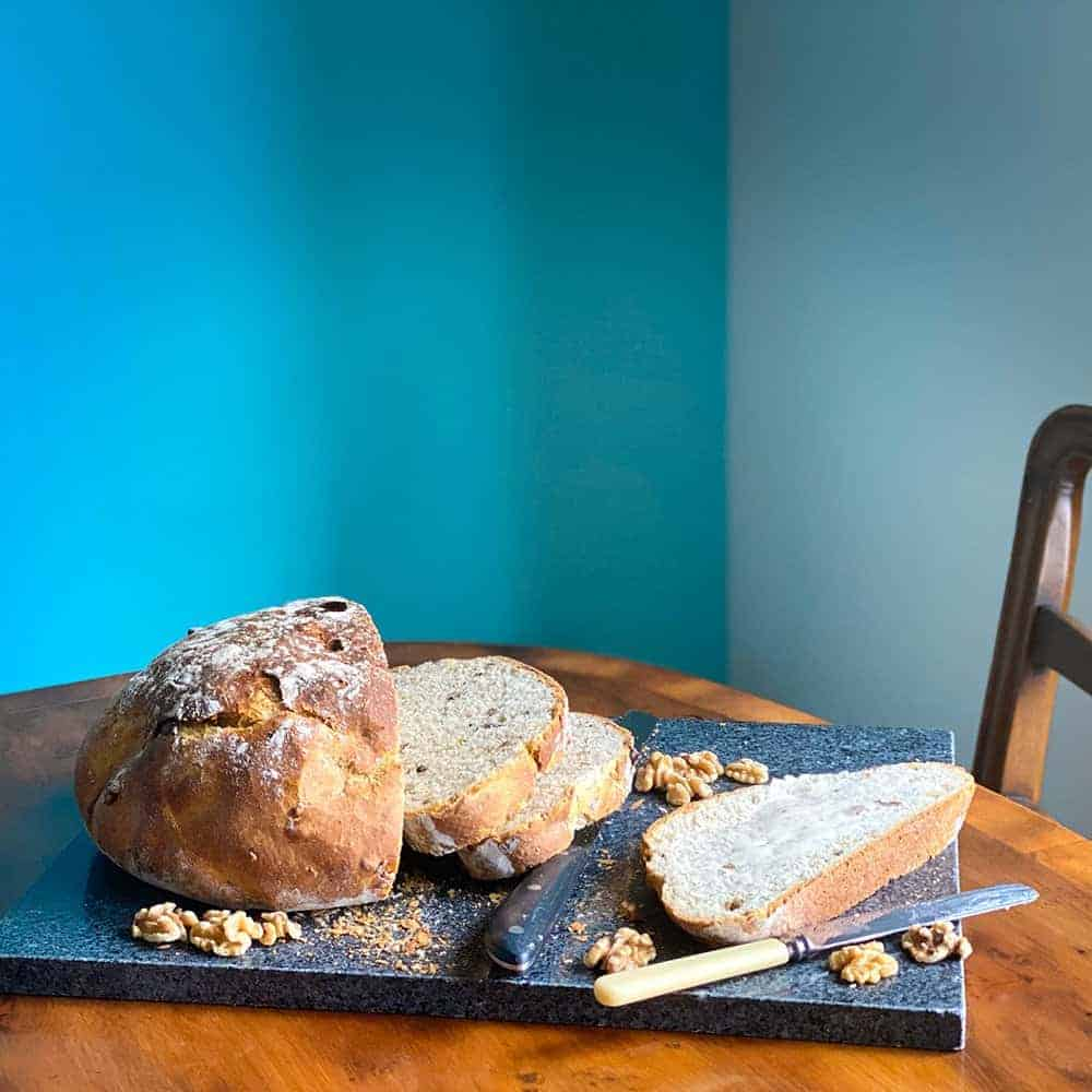 Autumnal Stilton and Walnut Bread
