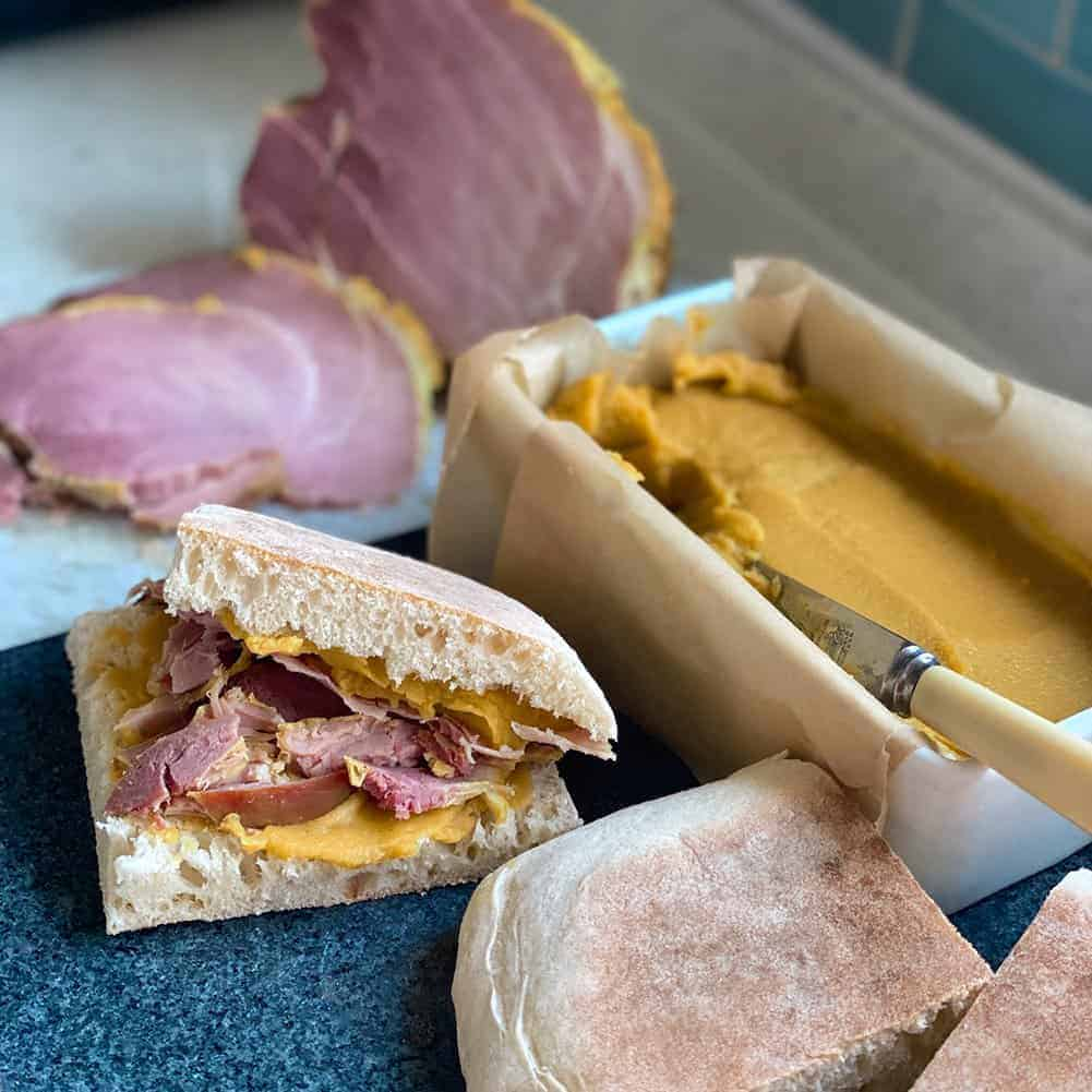 Homecooked Ham and Golden Pease Pudding
