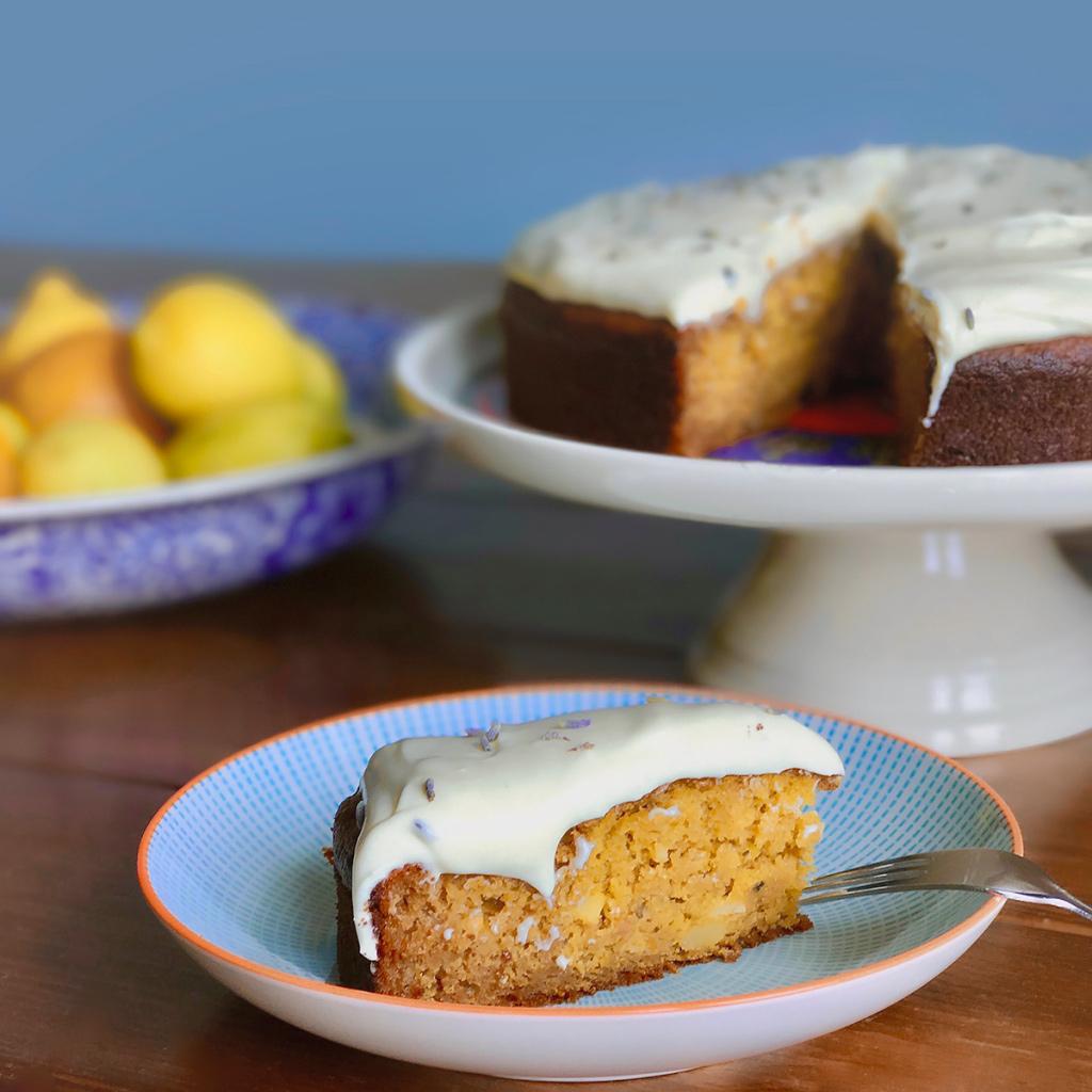 Lavender Carrot Cake